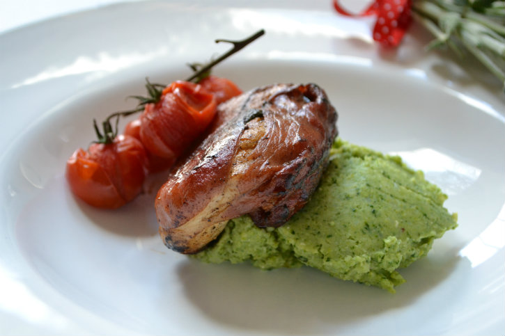 kip saltimbocca met broccolipuree1