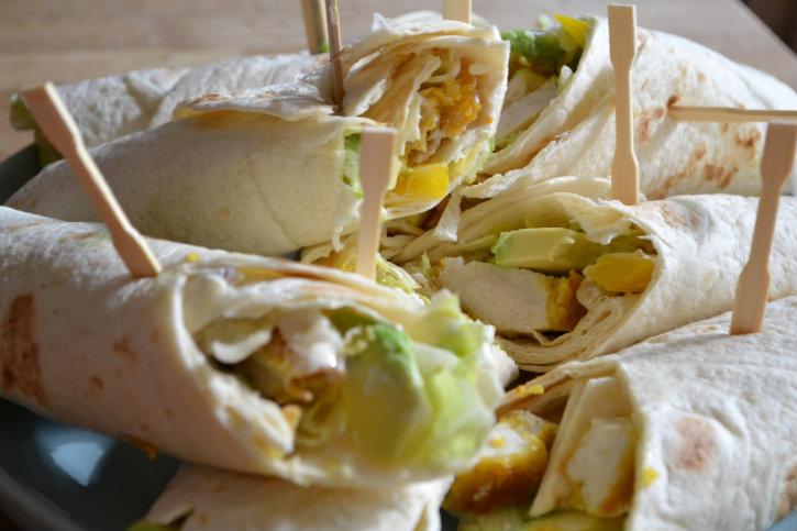 krokante kip wraps 2