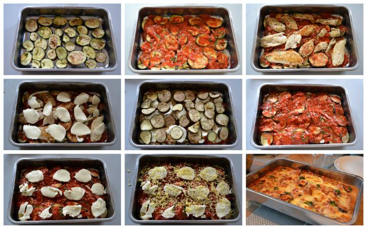 Ovenschotel met aubergine en mozarella