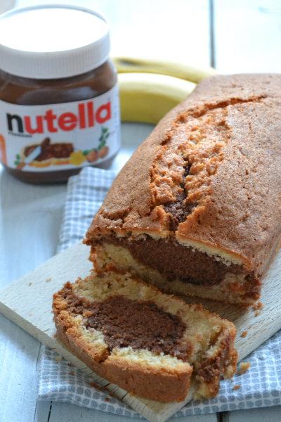 banaan nutella cake