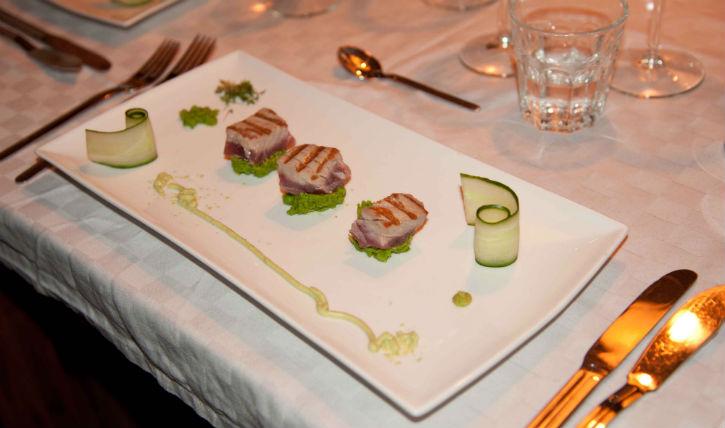 erwtenpuree met tonijn
