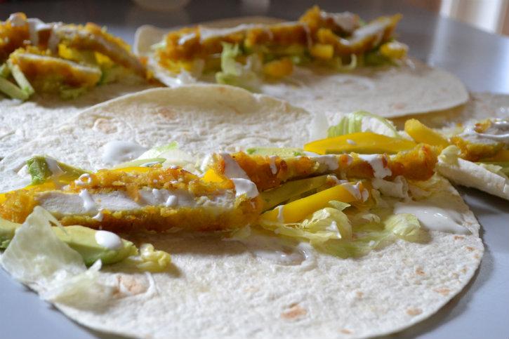 krokante kip wraps 1