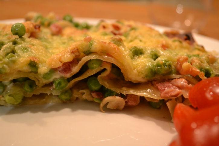romige lasagne