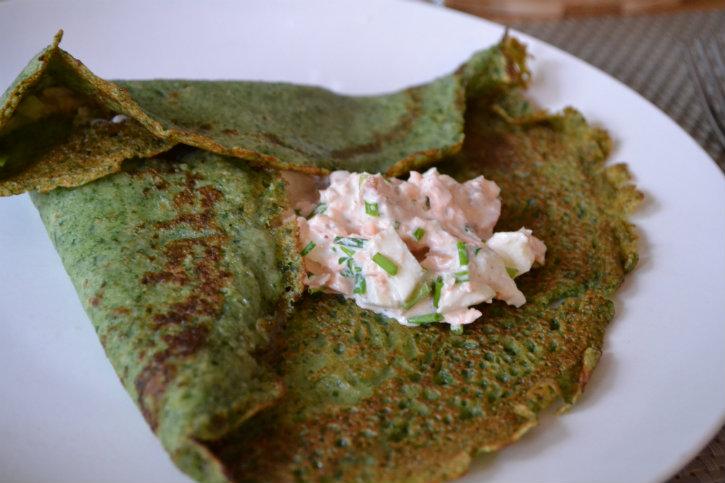 spinaziepannenkoek met zalm 2